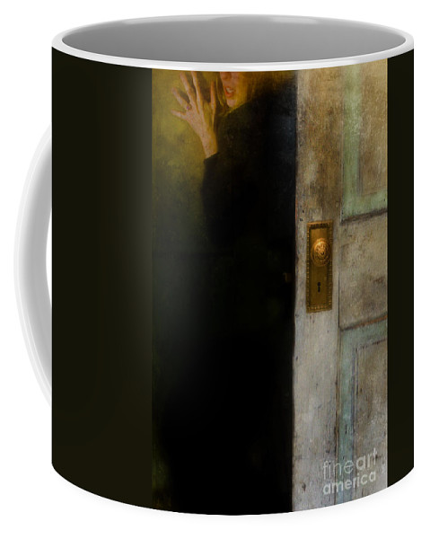 Woman Coffee Mug featuring the photograph Fear by Jill Battaglia