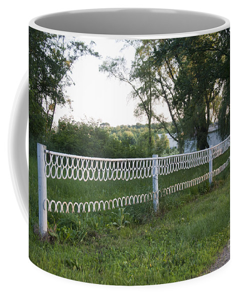 Horse Shoes Coffee Mug featuring the photograph Fence Or Shoes by David Arment