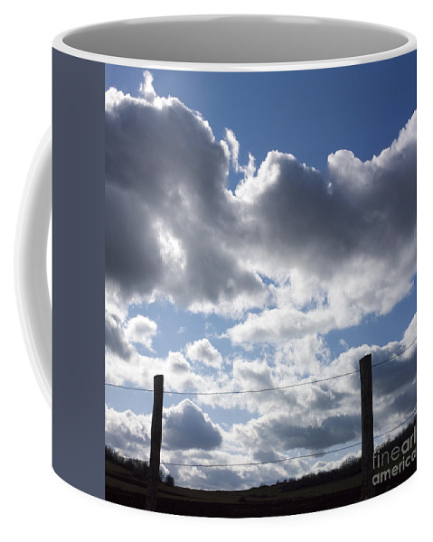 Agriculture Coffee Mug featuring the photograph Fences by Bernard Jaubert