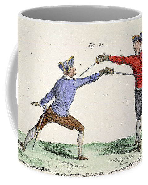 18th Century Coffee Mug featuring the photograph Fencing, 18th Century by Granger