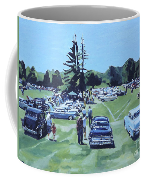 Cars Coffee Mug featuring the painting Field Of Dreams by Deb Putnam