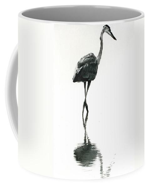 Heron Coffee Mug featuring the photograph Figure 8 by Skip Willits