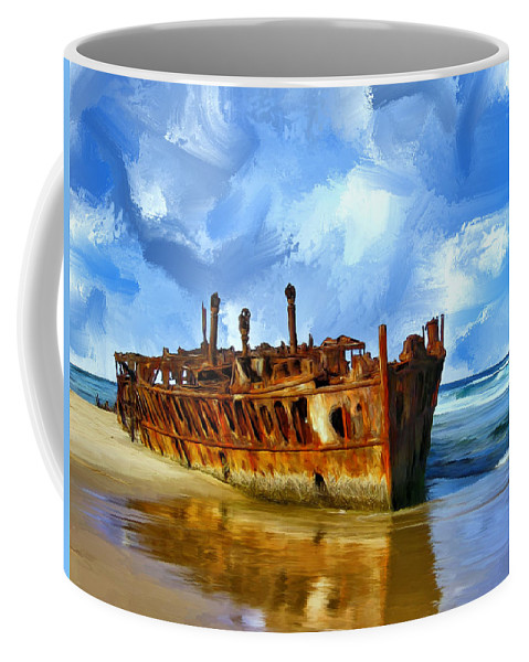 Final Resting Place Coffee Mug featuring the painting Final Resting Place by Dominic Piperata