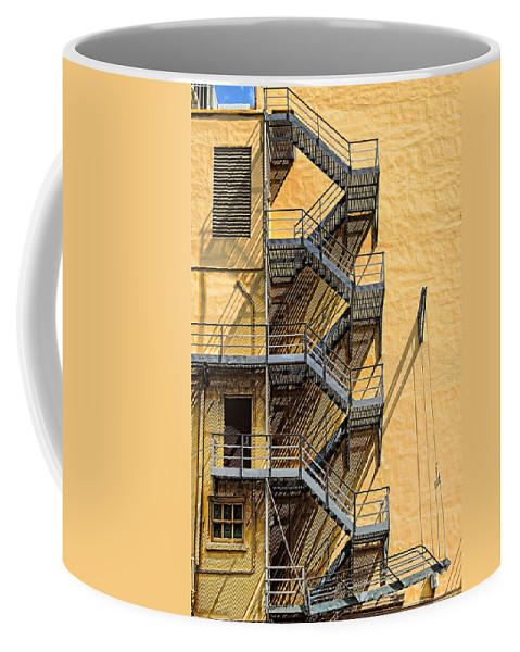 Fire Coffee Mug featuring the photograph Fire Escape by Rudy Umans