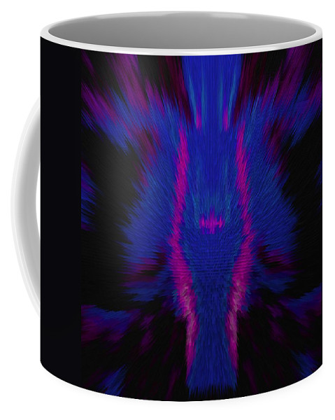 Fire Coffee Mug featuring the photograph Fire Wolf Abstract by DigiArt Diaries by Vicky B Fuller
