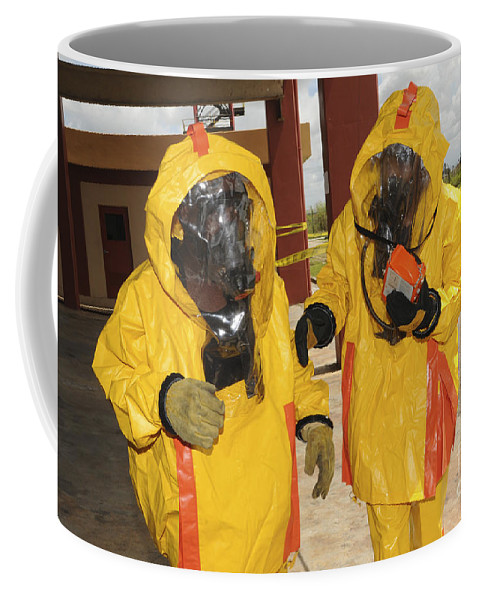 Firefighters Dressed In Hazmat Suits Coffee Mug For Sale By Stocktrek Images