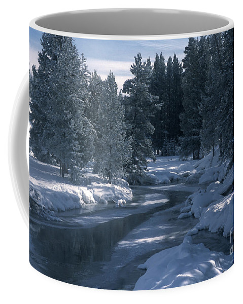 Yellowstone National Park Coffee Mug featuring the photograph Firehole River In Yellowstone by Sandra Bronstein