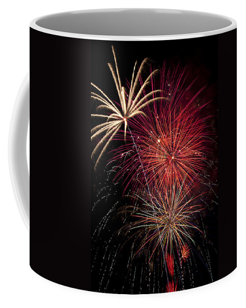 4th Of July Coffee Mug featuring the photograph Fireworks by Garry Gay