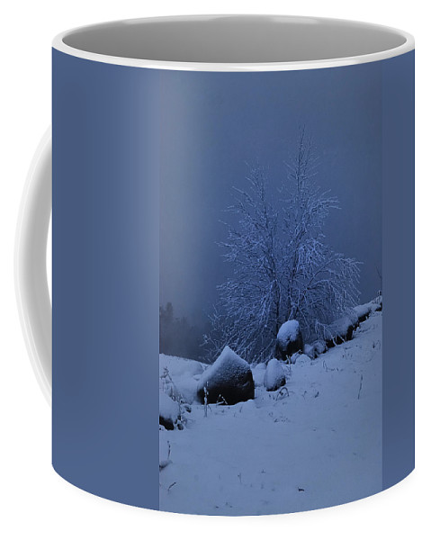 Nature Coffee Mug featuring the photograph First Snow At First Light by Susan Capuano
