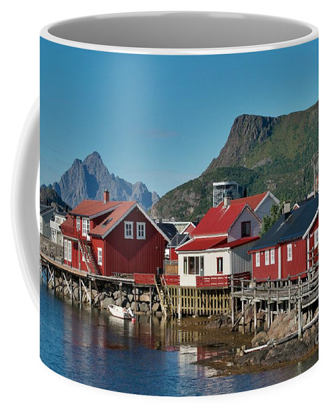 Norway Coffee Mug featuring the photograph Fishermen's Houses by Heiko Koehrer-Wagner