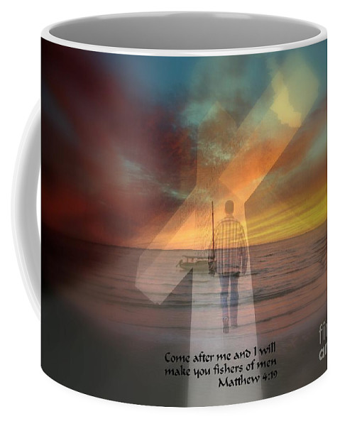 Religious Coffee Mug featuring the photograph Fishers Of Men by Rick Rauzi
