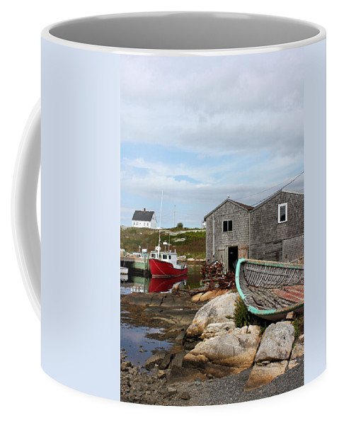 Peggys Point Coffee Mug featuring the photograph Fishing Village In Nova Scotia by Kristin Elmquist
