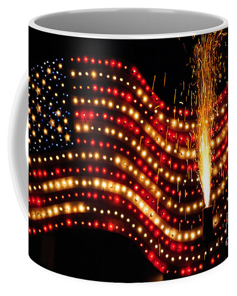 Independence Day Coffee Mug featuring the photograph Flag On by Diego Re