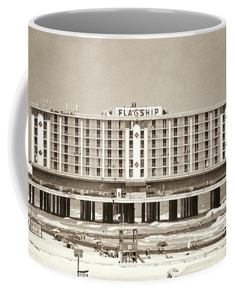 Black And White Coffee Mug featuring the photograph Flagship Hotel by Diego Re