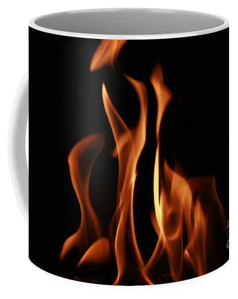 Fire Coffee Mug featuring the photograph Flame by Rick Monyahan
