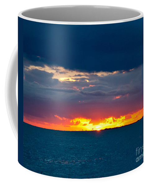 Sunset Coffee Mug featuring the photograph Flaming Sunset by Stephen Whalen