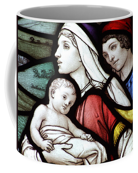 Stained Coffee Mug featuring the photograph Flight To Egypt Stained Glass by Munir Alawi