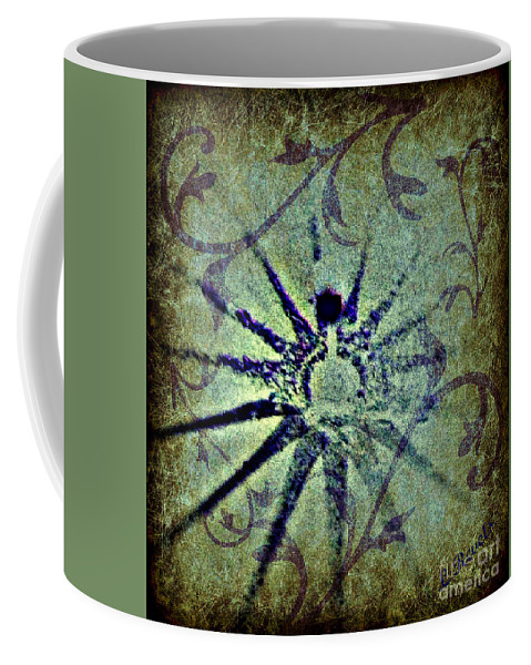 Digital Abstract Coffee Mug featuring the digital art Floral Abstract by Leslie Revels