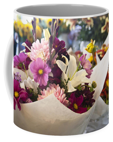 Flower Coffee Mug featuring the photograph Flower Market by Jim And Emily Bush