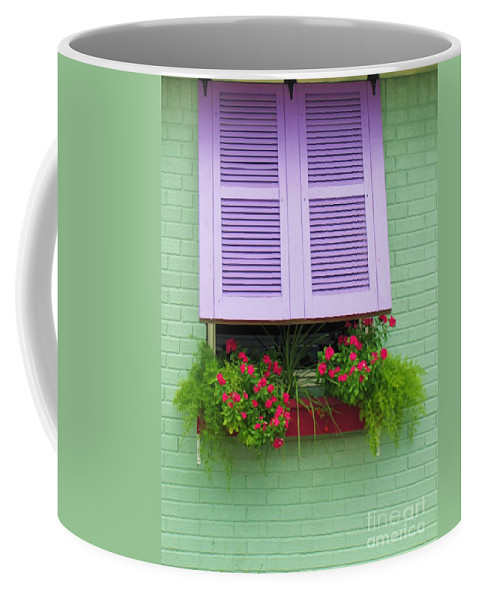 Flowers Coffee Mug featuring the photograph Flower Pot Window by Michelle Powell