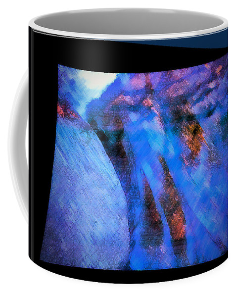 River Coffee Mug featuring the mixed media Flowing Water by Marie Jamieson