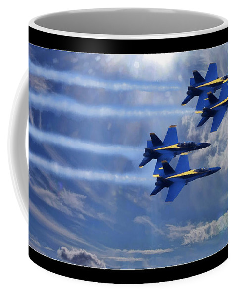 Blue Angels Coffee Mug featuring the photograph Fly The Skys Blue Angels by Blake Richards