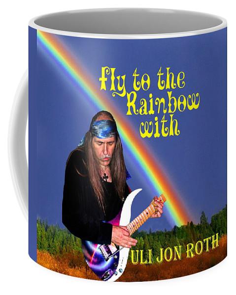 Uli Jon Roth Coffee Mug featuring the photograph Fly To The Rainbow With Uli Jon Roth by Ben Upham