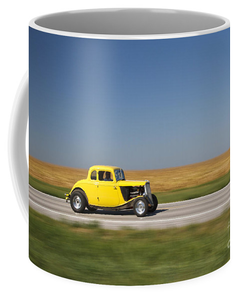 1934 Ford Coffee Mug featuring the photograph Flyby by Dennis Hedberg