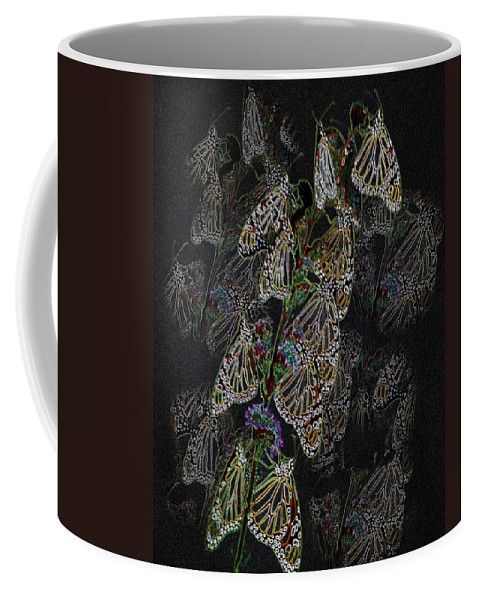 Butterflies Coffee Mug featuring the photograph Flying Diamonds At Rest by Rick Rauzi
