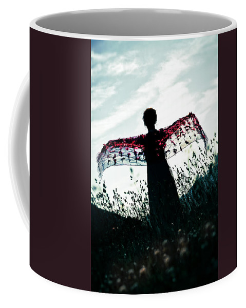 Female Coffee Mug featuring the photograph Flying by Joana Kruse