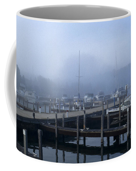 Sandra Bronstein Coffee Mug featuring the photograph Foggy Morning In Door County by Sandra Bronstein