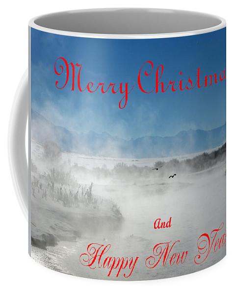 Christmas Cards Coffee Mug featuring the photograph Foggy River Christmas by DeeLon Merritt