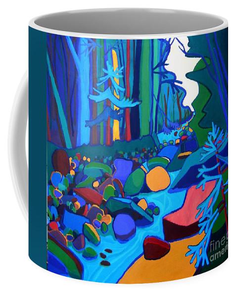 River Coffee Mug featuring the painting Follow The River Jackson Nh by Debra Bretton Robinson