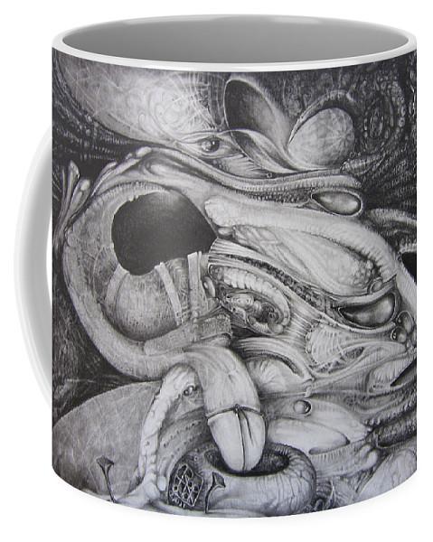 Fomorii Coffee Mug featuring the drawing Fomorii General by Otto Rapp