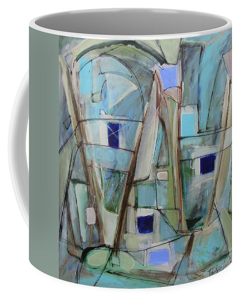 Abstract Coffee Mug featuring the painting For Lovers by Lynne Taetzsch