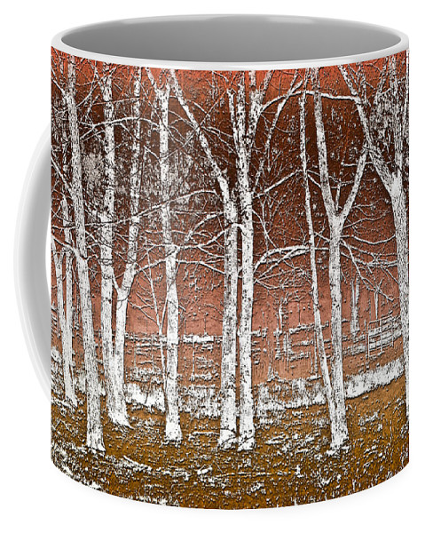 Fine Coffee Mug featuring the photograph Forest Ghosts by Debra and Dave Vanderlaan