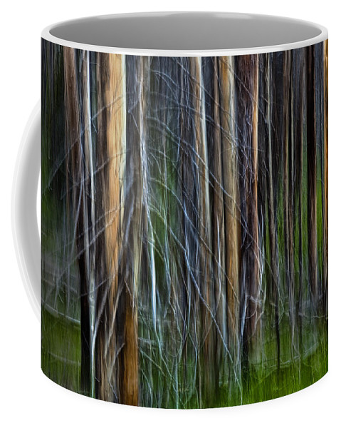 Art Coffee Mug featuring the photograph Forest Impression No.119 by Randall Nyhof