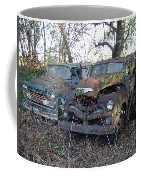 Truck Coffee Mug featuring the photograph Forever Parked by Bonfire Photography