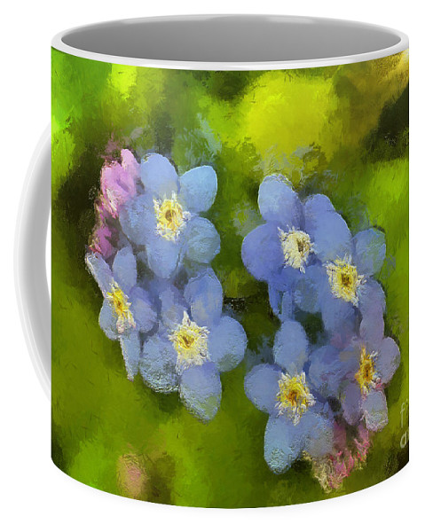 Flower Coffee Mug featuring the painting Forget-me-not Flower by Dragica Micki Fortuna