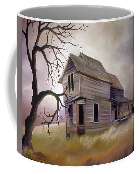Haunted Coffee Mug featuring the painting Forgotten but not Gone by James Christopher Hill
