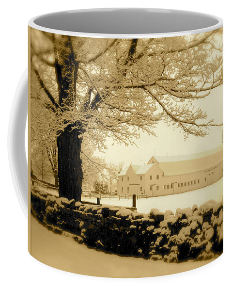 Landscape Coffee Mug featuring the photograph Forrestel Farm by Arthur Barnes