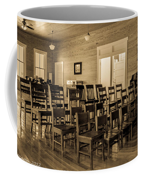 Classroom Coffee Mug featuring the photograph Fort Christmas Class by Shannon Harrington