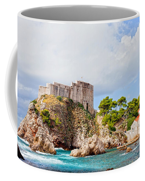 Fort Coffee Mug featuring the photograph Fort Lovrijenac In Dubrovnik by Artur Bogacki