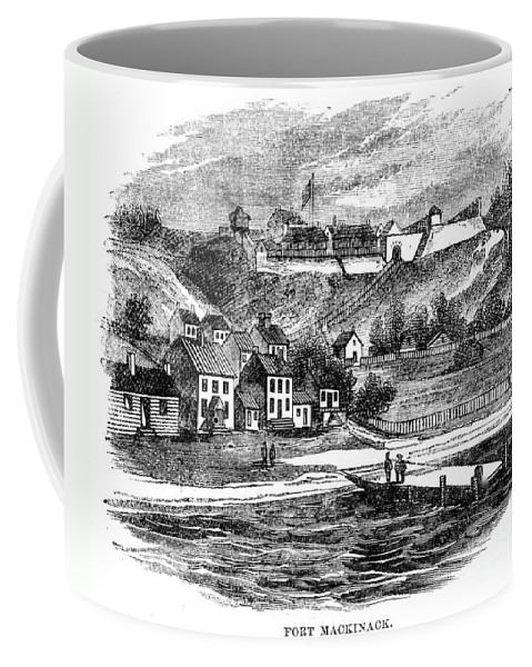 1812 Coffee Mug featuring the photograph Fort Mackinac, C1814 by Granger