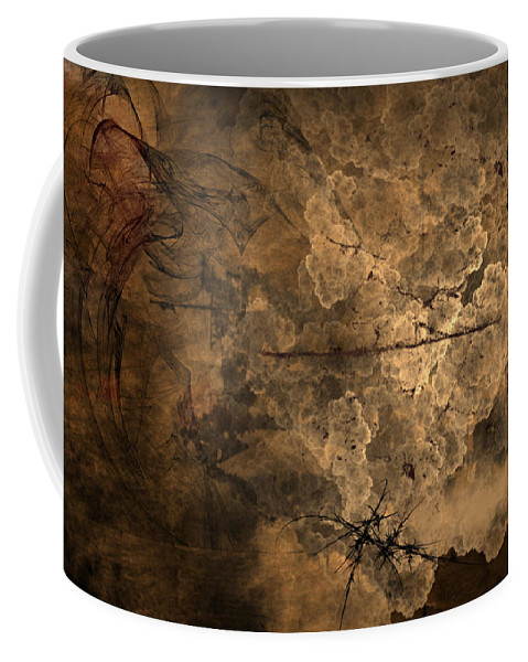 Fossilite Coffee Mug featuring the painting Fossilite by Christopher Gaston