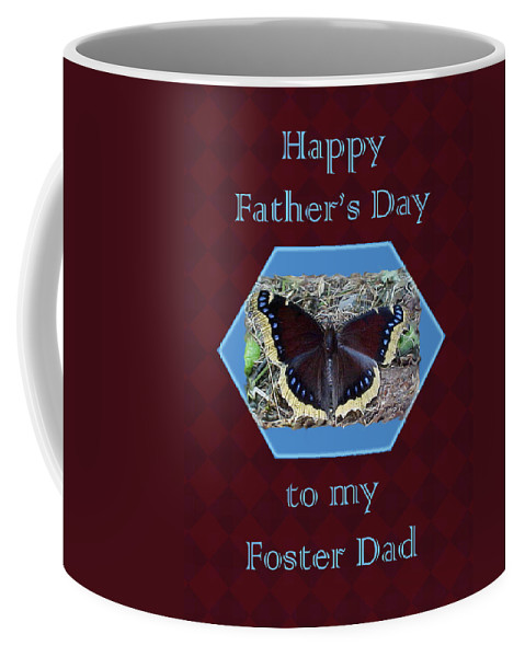 father's Day Coffee Mug featuring the photograph Foster Dad Father's Day Card - Mourning Cloak Butterfly by Mother Nature