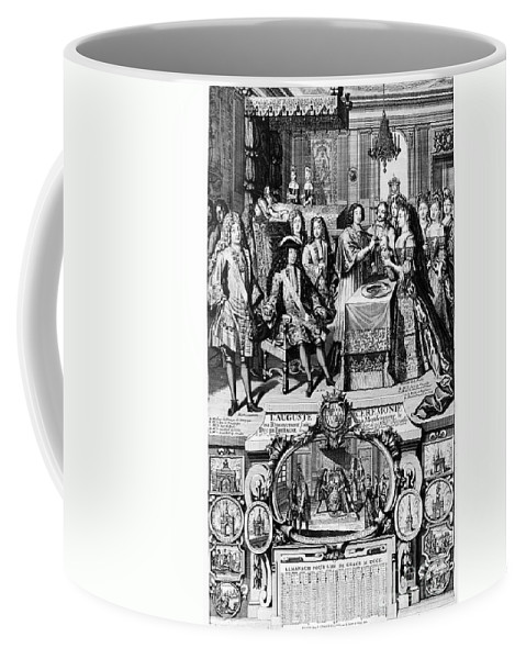 1704 Coffee Mug featuring the photograph France: Baptism, 1704 by Granger