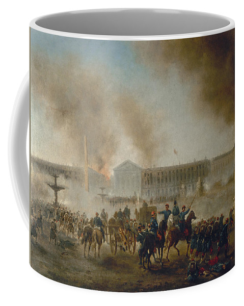 1870 Coffee Mug featuring the photograph Franco-prussian War, 1870 by Granger