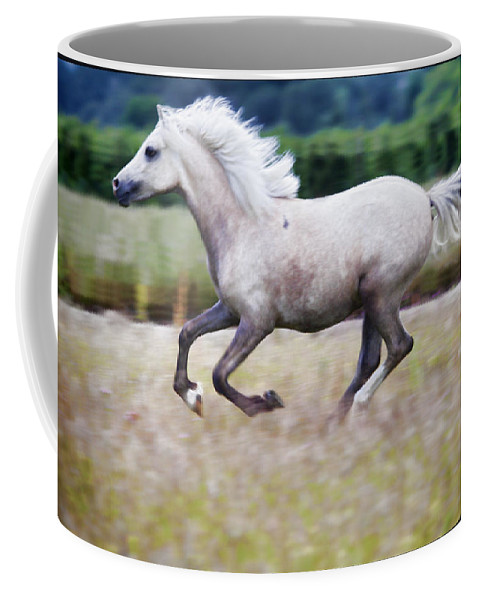Pony Coffee Mug featuring the photograph Freedom by Karen Ulvestad