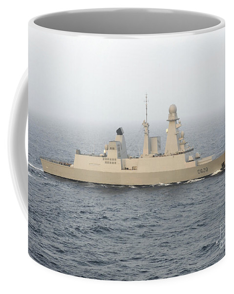 Operation Enduring Freedom Coffee Mug featuring the photograph French Destroyer Fs Forbin by Stocktrek Images
